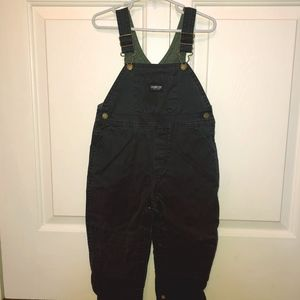 Lined over-alls in navy blue.  OshKosh. 24 Mos